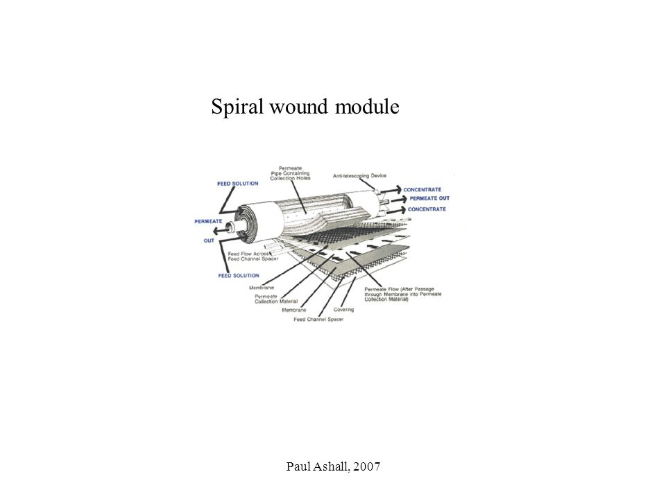 Spiral wound module