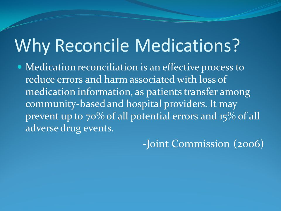 Medication Reconciliation Summary 1.