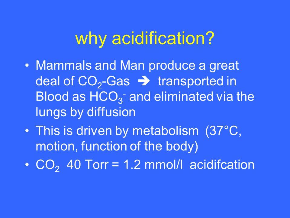 why acidification.