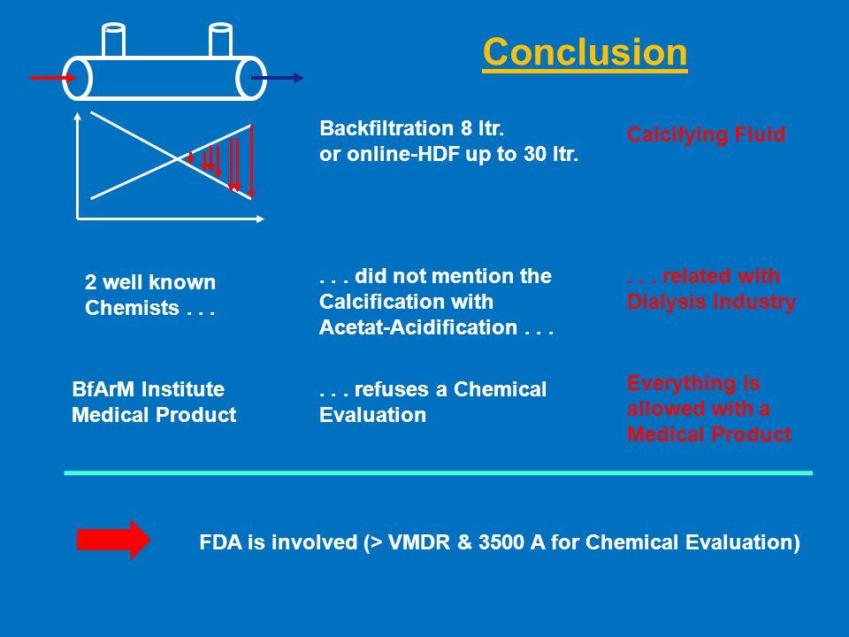 Backfiltration 8 ltr. or online-HDF up to 30 ltr.