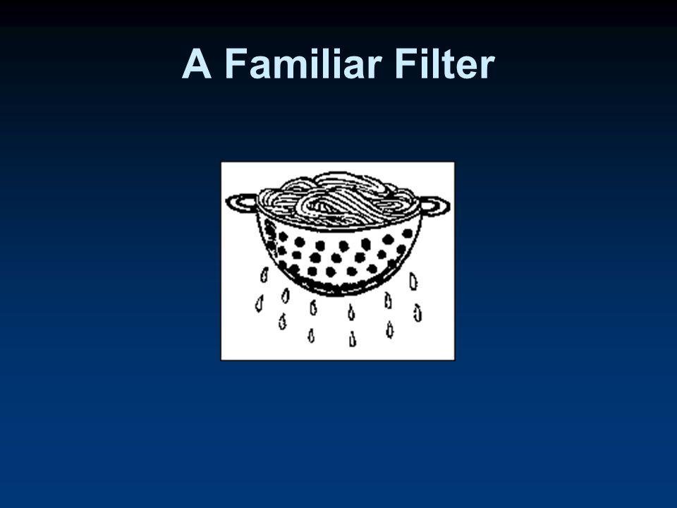 A Familiar Filter