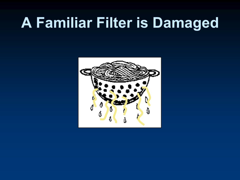 A Familiar Filter is Damaged
