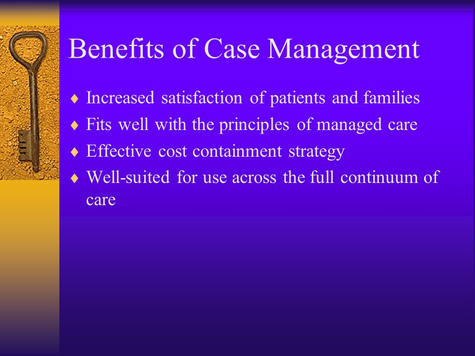 Why case management with ESRD.