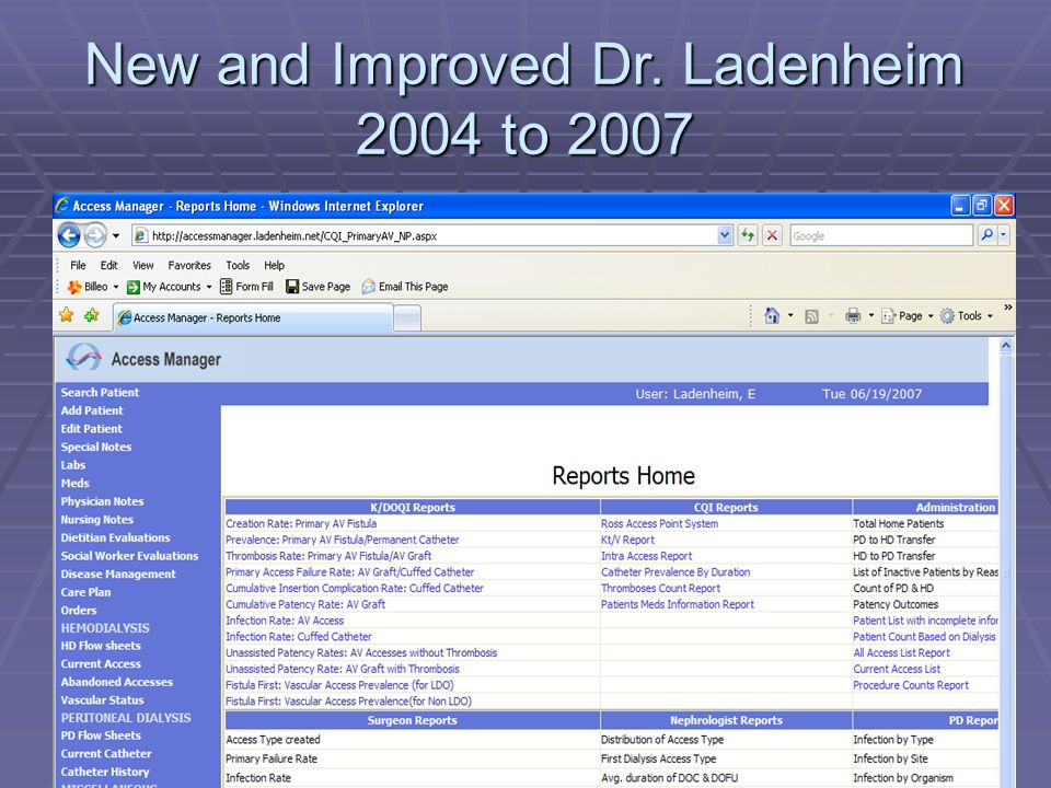 New and Improved Dr. Ladenheim 2004 to 2007