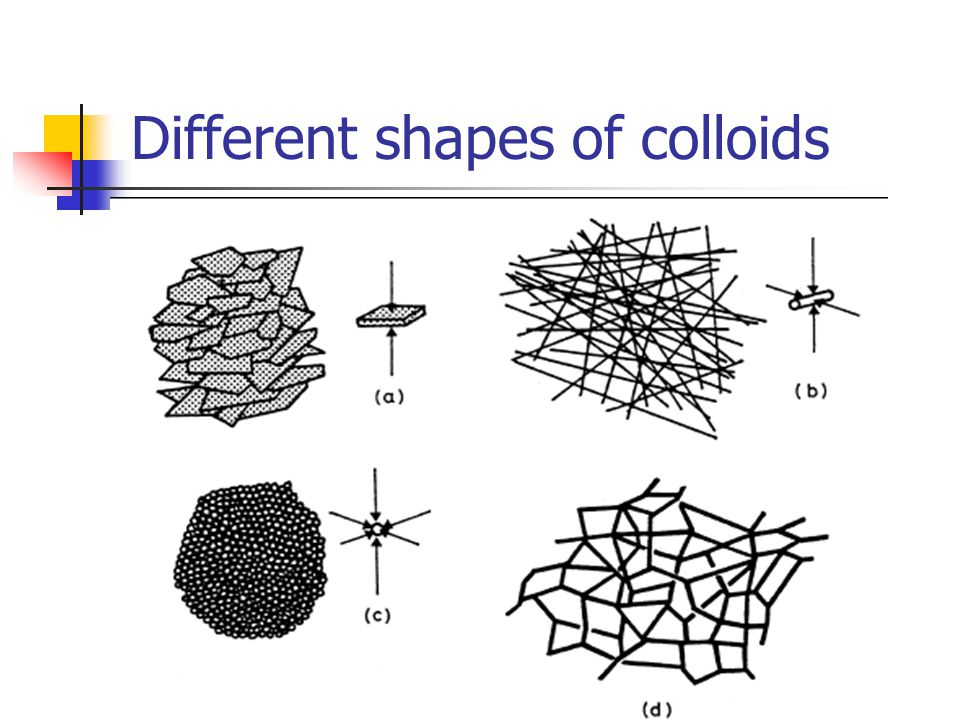 Different shapes of colloids