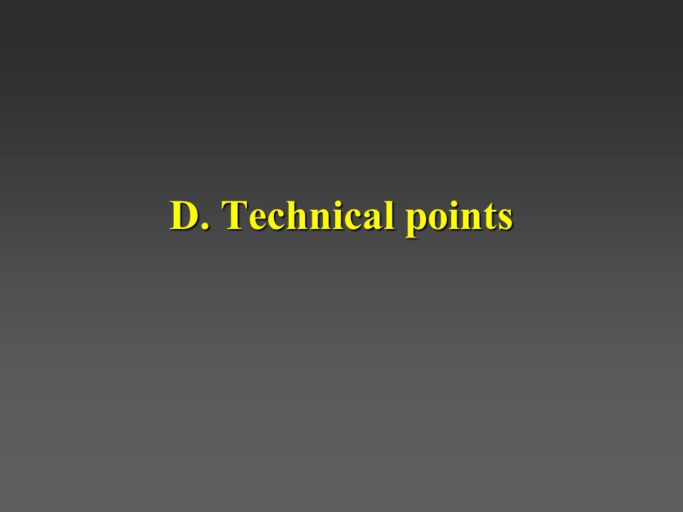 D. Technical points
