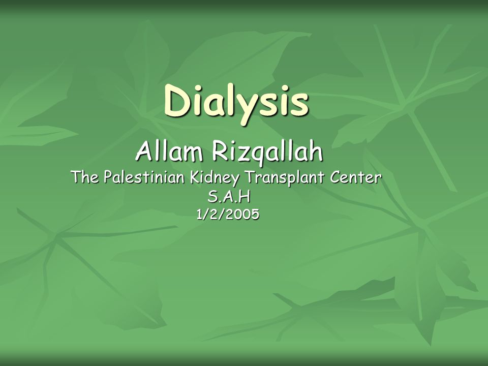Dialysis Is a process where by the solute composition of solution A is altered by exposing solution A to a second solution B through semipermiable membrane.