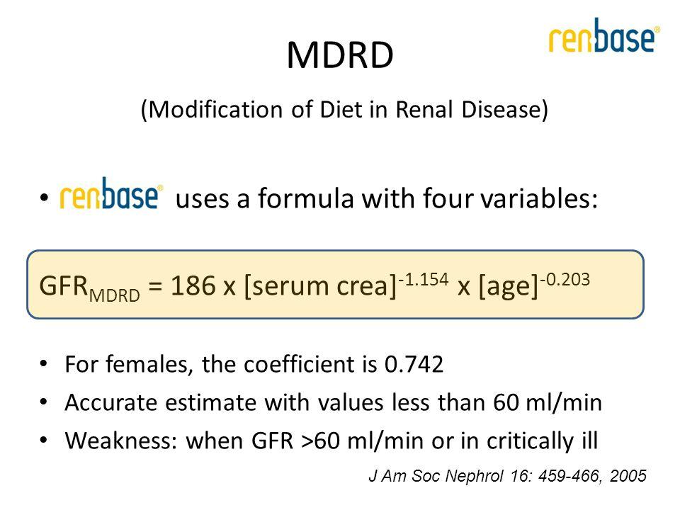 MDRD accuracy J Am Soc Nephrol 16: 459-466, 2005