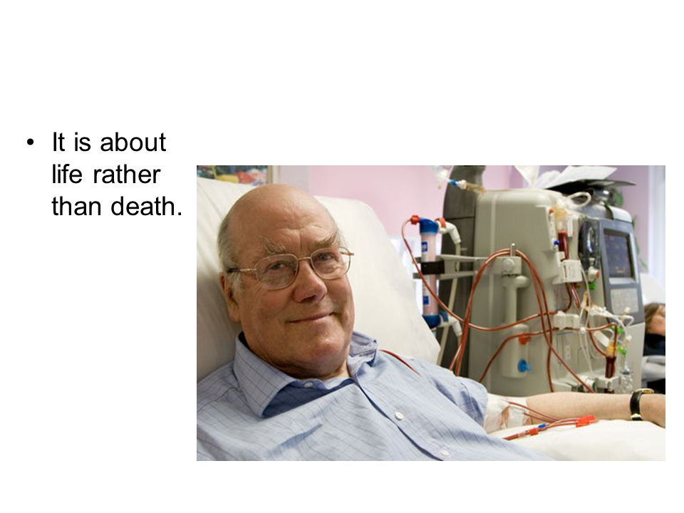 It is about life rather than death.