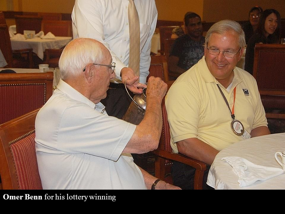 Paul Kunkel for his grandson's accident (spilled milk), and Jay Hoeflinger for who knows what,