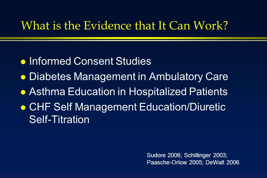 What is the Evidence that It Can Work.