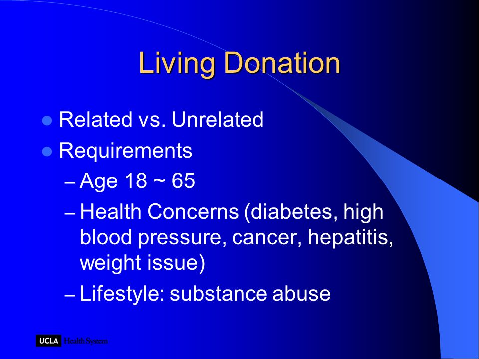Living Donation Related vs.