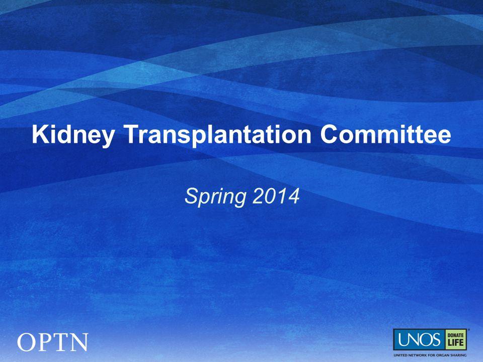 Kidney Transplantation Committee Spring 2014