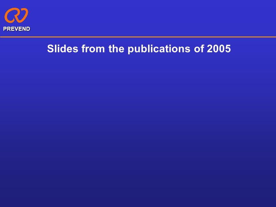Slides from the publications of 2005 PREVEND