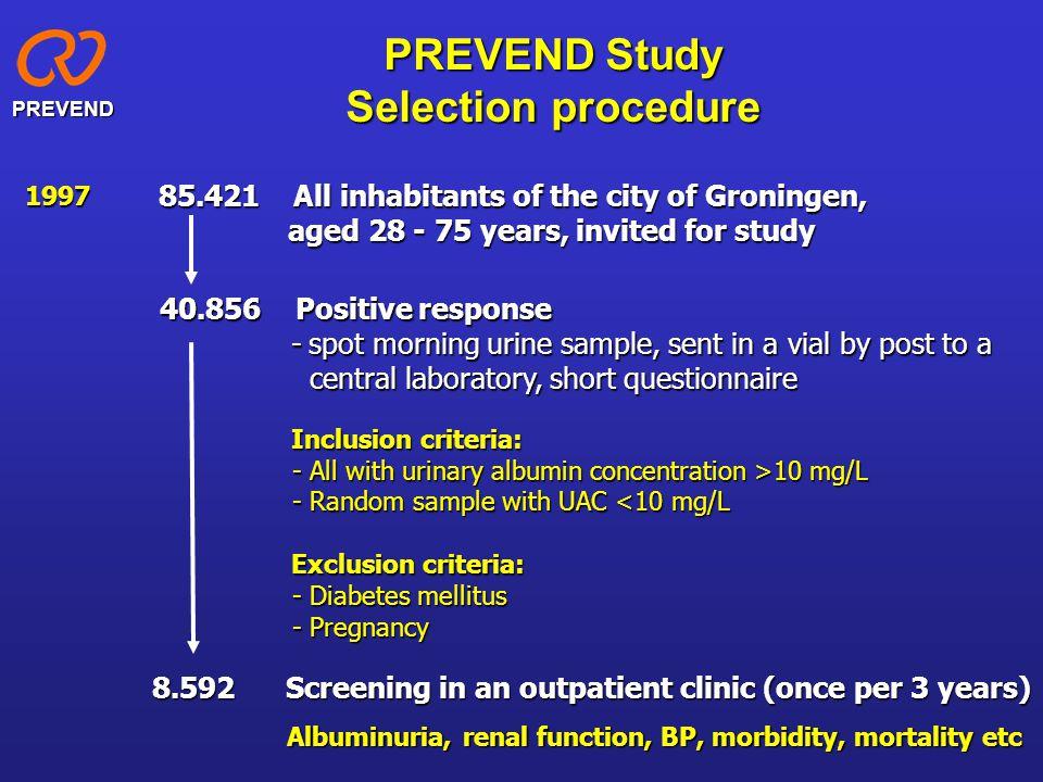 Micro-albuminuria: Definition and classification Morning urine > 2.5-25 > 3.5-35 < 2.5 < 3.5 Alb/creat ratio (mg/mmol) > 200> 300> 200Macro-albuminuria 20 – 20030 – 300MFMF 20 – 200Micro-albuminuria < 20< 30MFMF < 20Normal Albumin (  g/min) Albumin (mg/24h) Albumin (mg/l) Overnight urine (timed) 24h urine > 25 > 35 MFMF