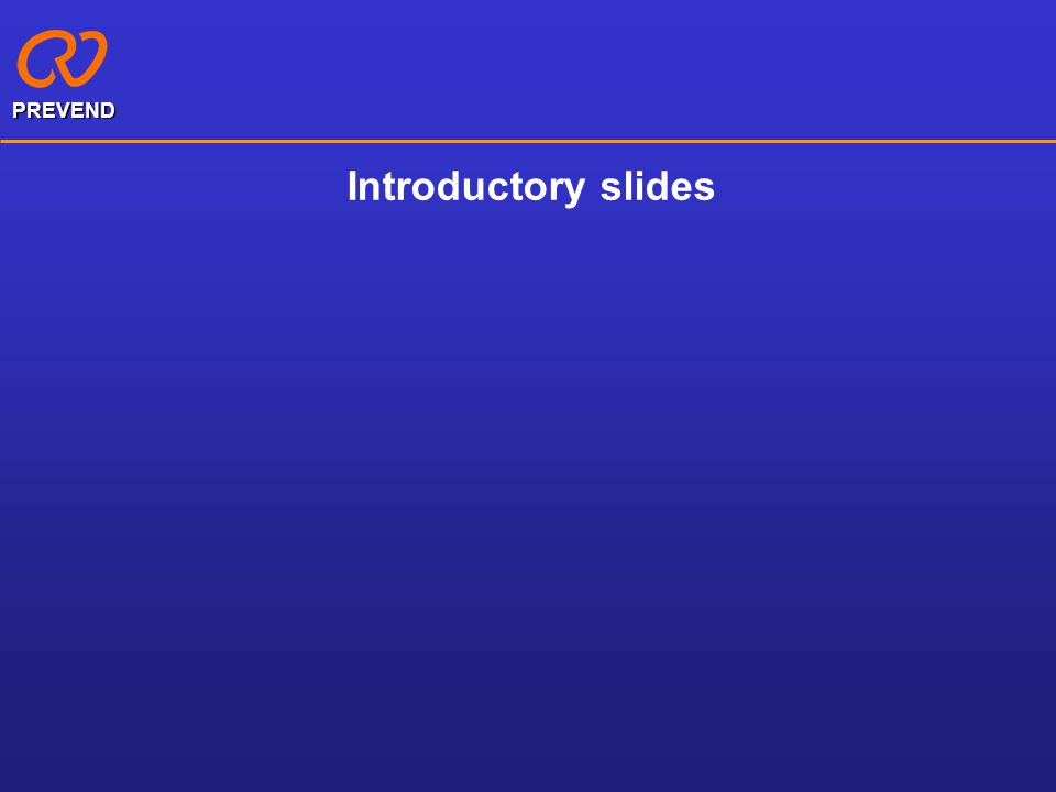 Introductory slides PREVEND
