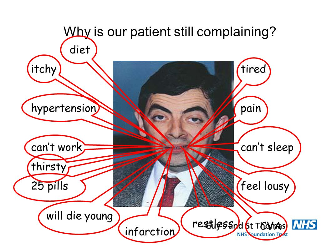 Why is our patient still complaining.