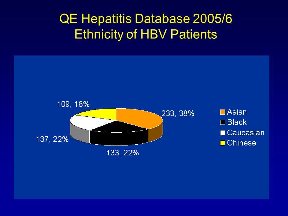 QE Hepatitis Database 2005/6 Ethnicity of HBV Patients