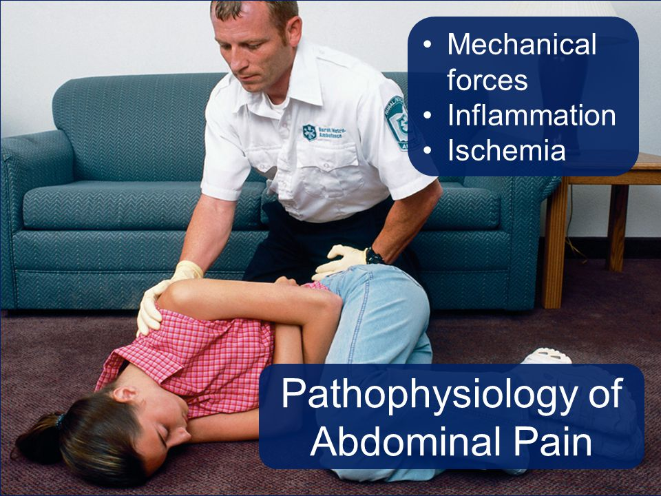 Pathophysiology of Abdominal Pain Mechanical forces Inflammation Ischemia