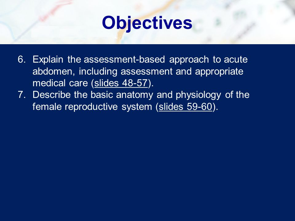 Assessment-Based Approach: Gynecological Emergencies Reassessment