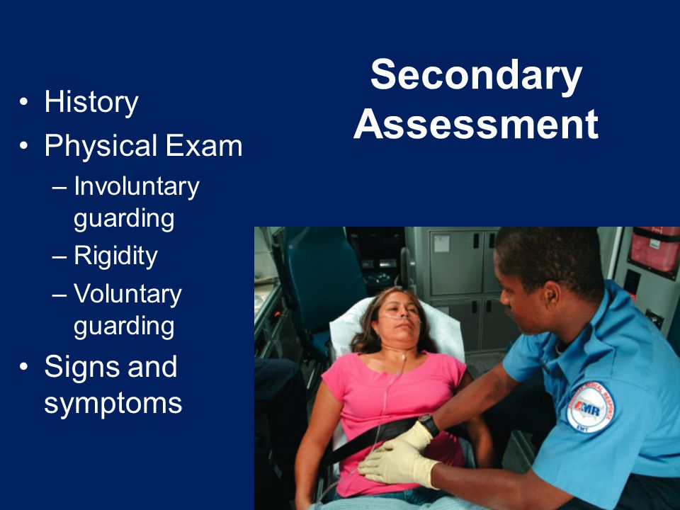 History Physical Exam –Involuntary guarding –Rigidity –Voluntary guarding Signs and symptoms