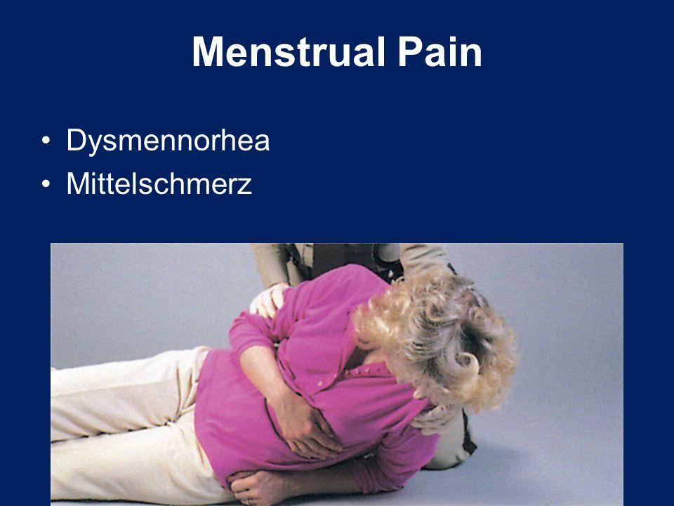 Dysmennorhea Mittelschmerz