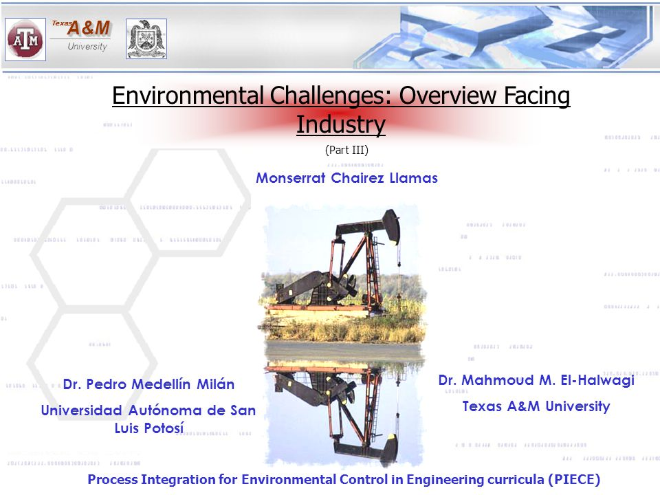 A&MA&M University Texas Schematic for HFRO module Adopted from Pollution Prevention Through Process Integration Systematic Design Tools, by Dr.El-Halwagi, fig 11.3, page 266.