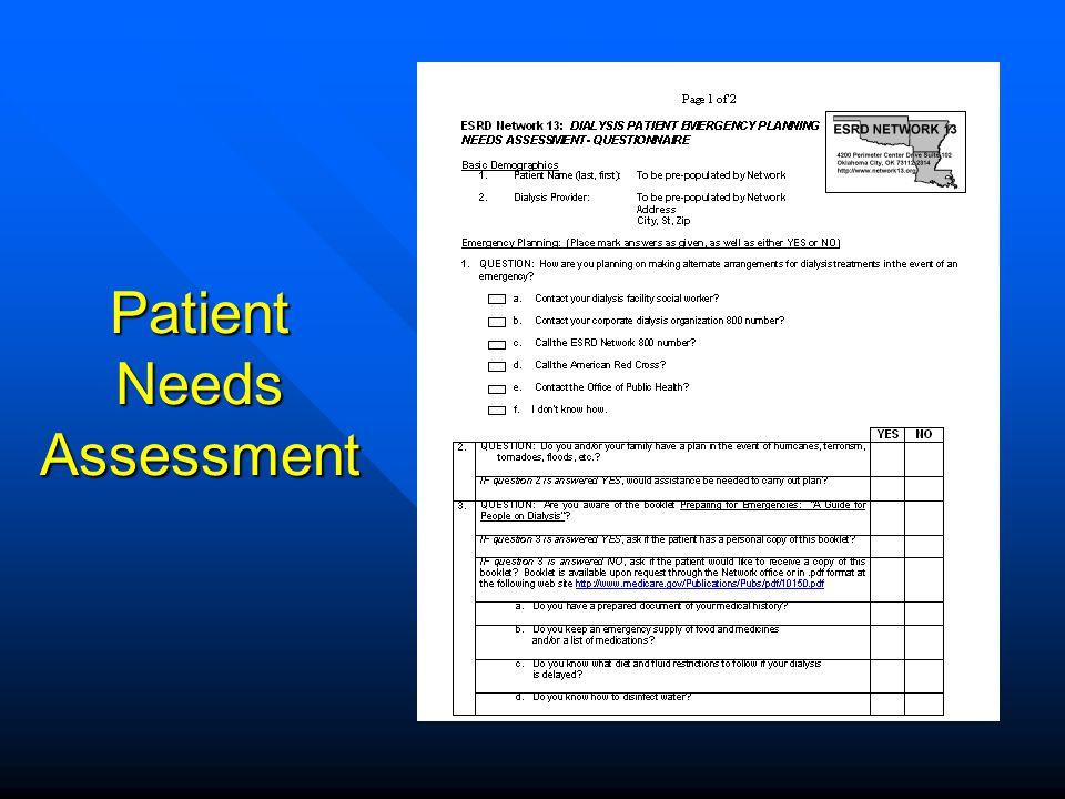 Patient Needs Assessment