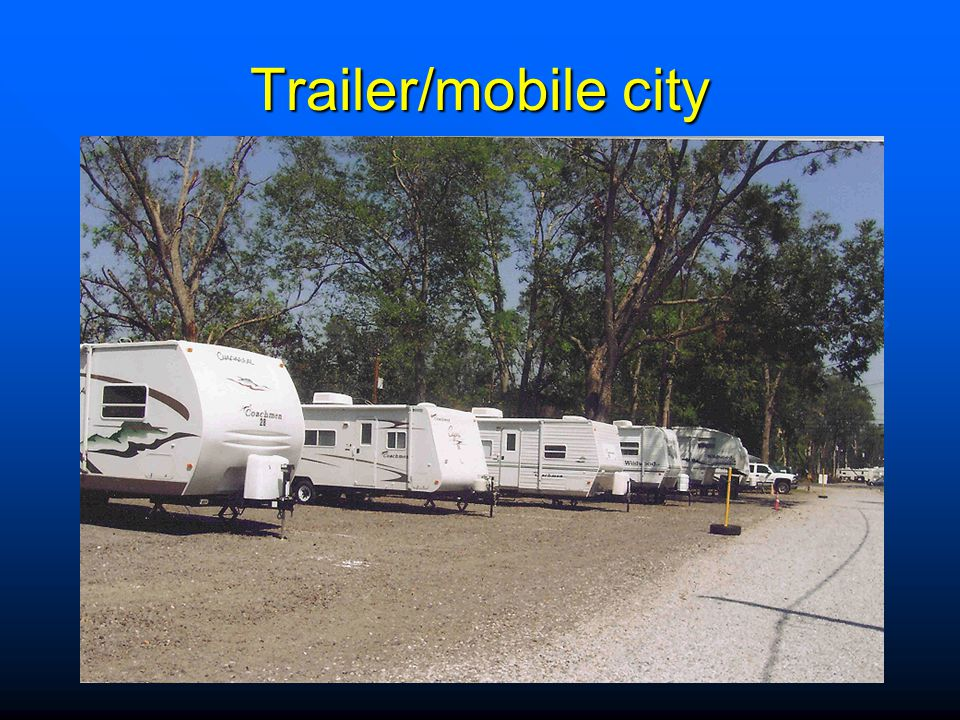 Trailer/mobile city