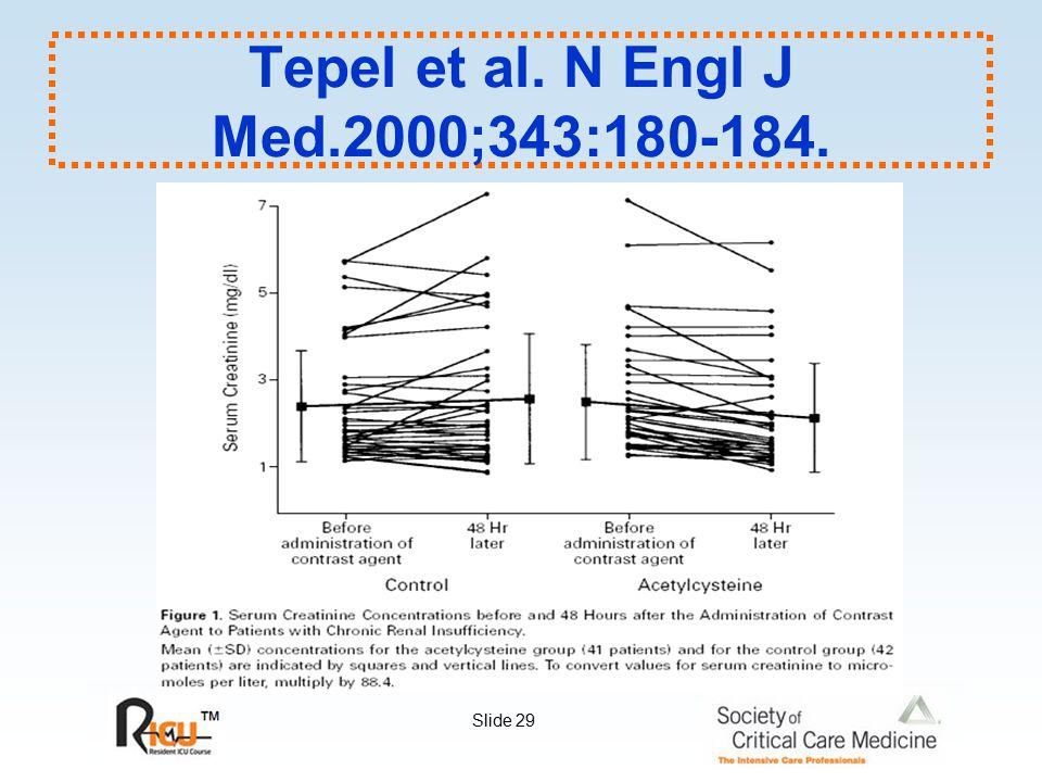 Slide 29 Tepel et al. N Engl J Med.2000;343:180-184.