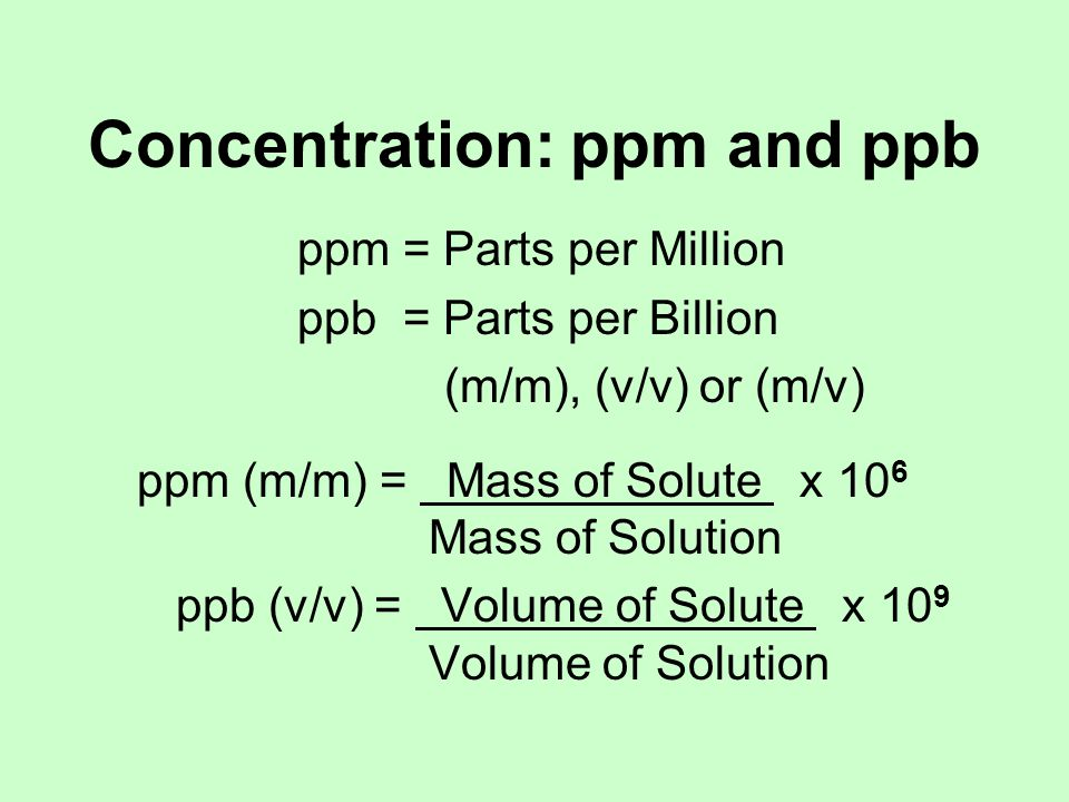 Concentration: mg/dL mg/dL = milligrams per deciliter 1 mg = 0.001 g 1 dL = 0.1 L = 100 mL 1 mg/dL = 1 mg solute.