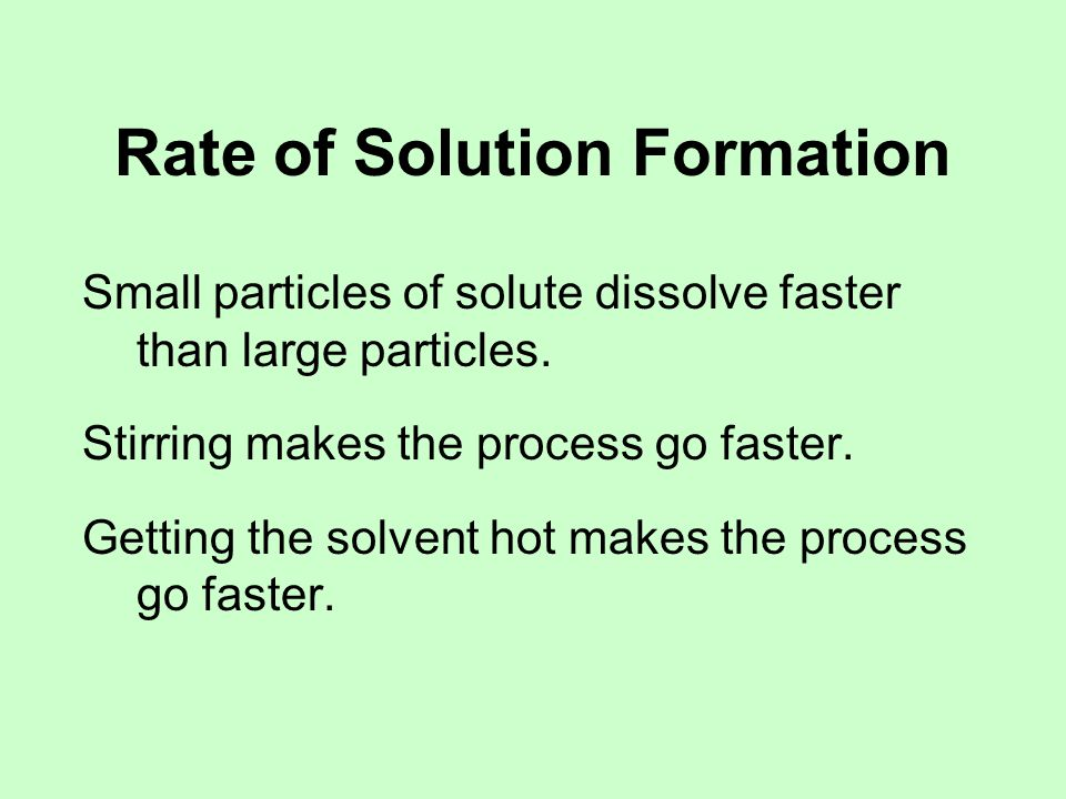 How Much Solute Will Dissolve.