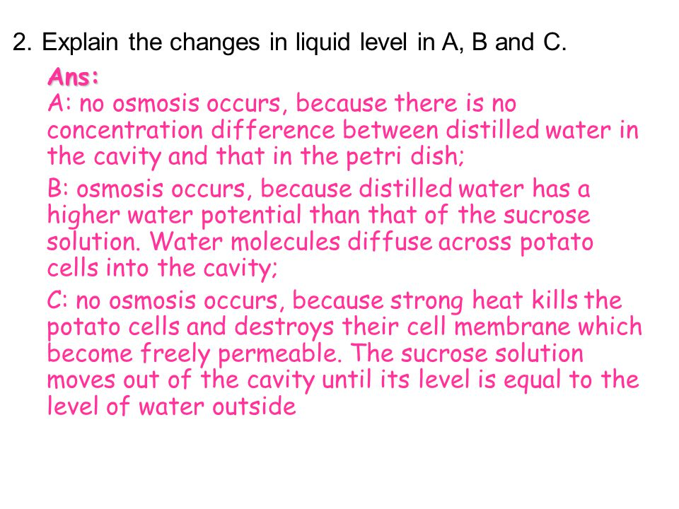 Analysis 1.Describe your observation. Ans: There is an increase in the liquid level in B. The liquid level remains more or less unchanged in A. The le