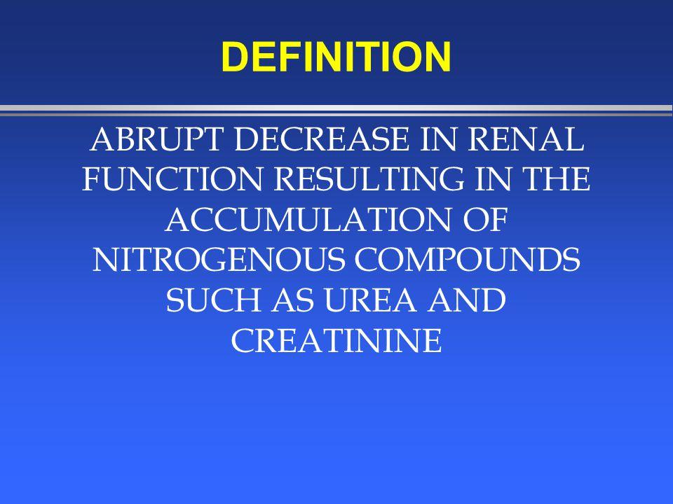 RENAL-- ACUTE RENAL FAILURE l ACUTE TUBULAR NECROSIS »EXOGENOUS TOXINS –AMINOGLYCOSIDES –RADIOGRAPHIC CONTRAST –HEAVY METAL COMPOUNDS –ETHYLENE GLYCOL –METHANOL –CARBON TETRACHLORIDE –CIS PLATIN