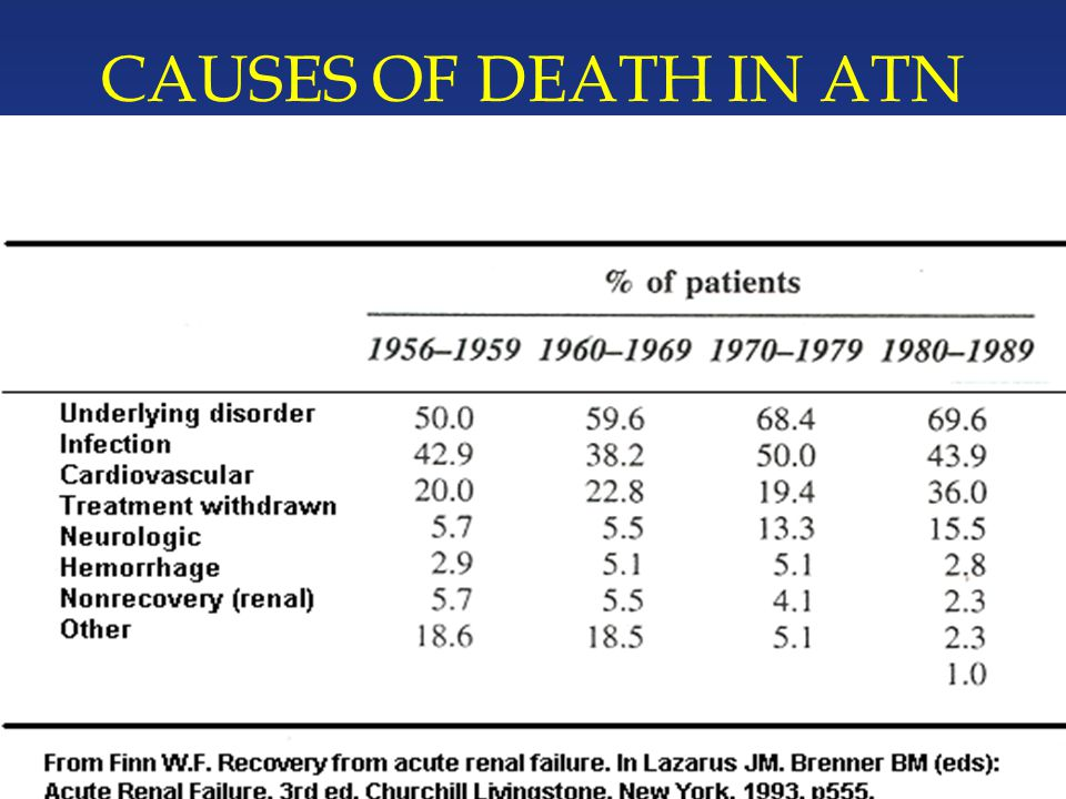 CAUSES OF DEATH IN ATN