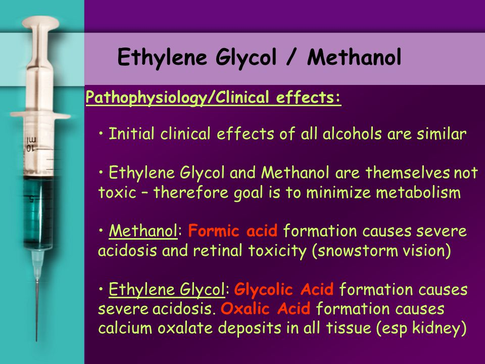 Case 2. Saturday Night's all right for drinking right for drinking Bedside pearls (ethylene glycol): i) hypocalcemia = suggests ethylene glycol ii) ur