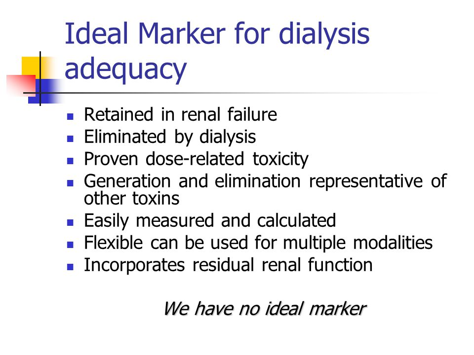 Netherlands Cooperative Study on the Adequacy of Dialysis Evaluated the relationship between residual renal function and survival among 740 hemodialysis patients.