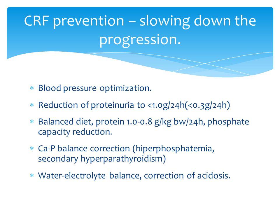  Blood pressure optimization.
