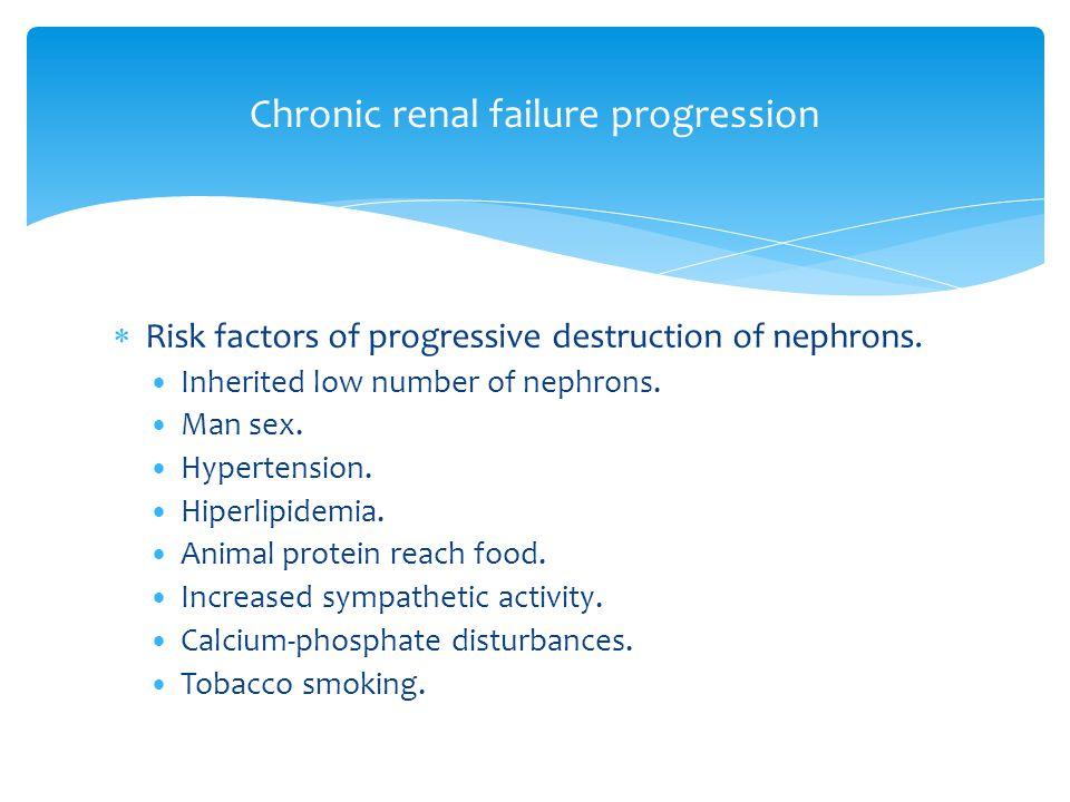  Risk factors of progressive destruction of nephrons.