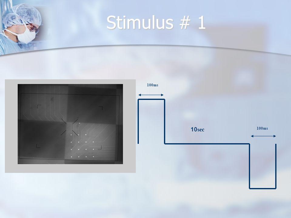 Stimulus # 1 100ms 10sec