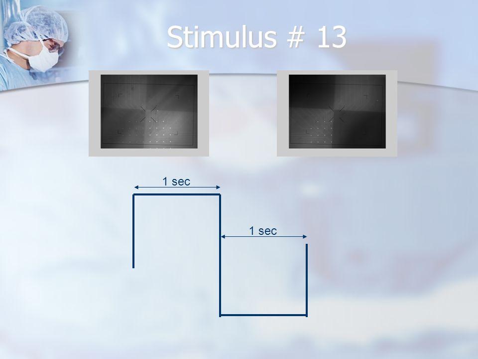 Stimulus # 13 1 sec