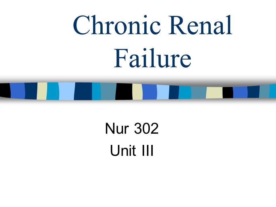 Chronic Renal Failure Nur 302 Unit III