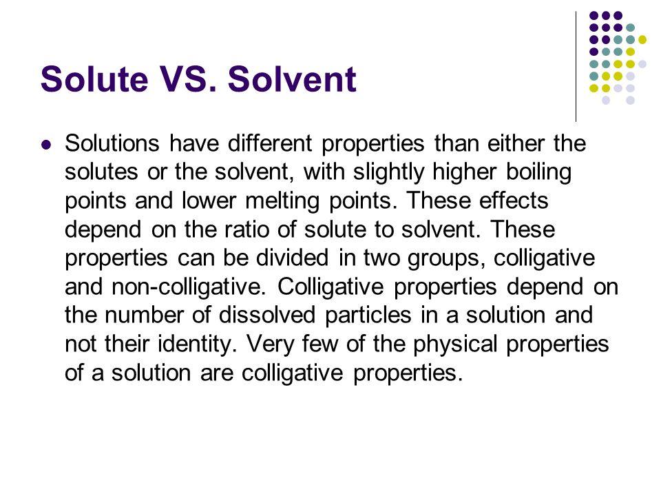 Solute VS.