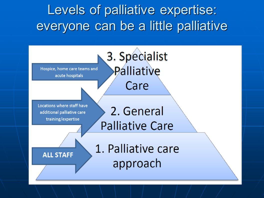 Levels of palliative expertise: everyone can be a little palliative