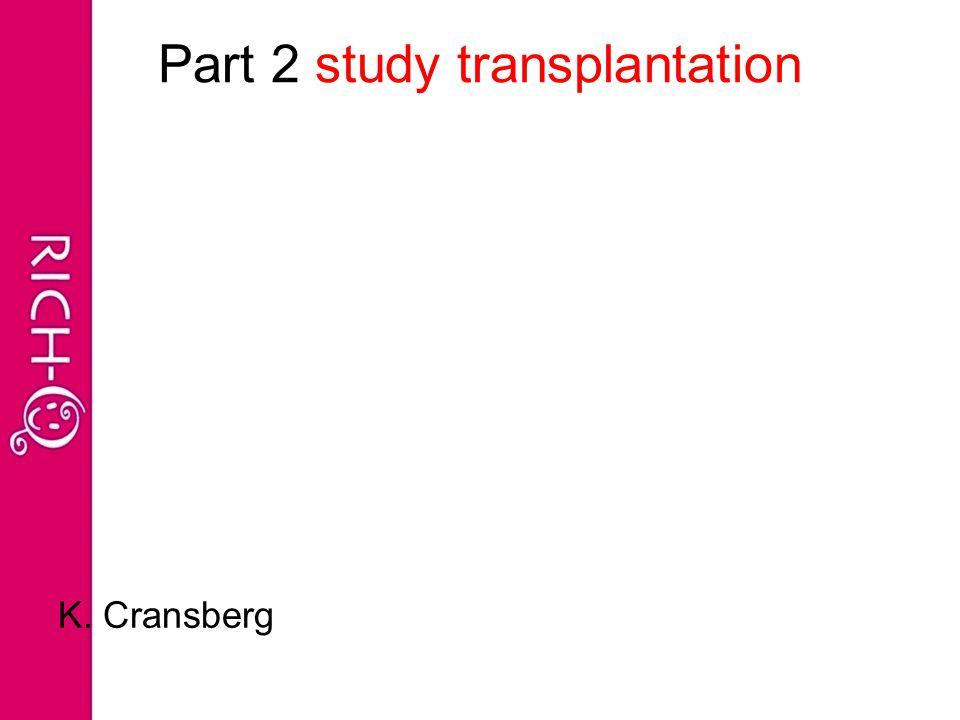 Part 2 study transplantation K. Cransberg