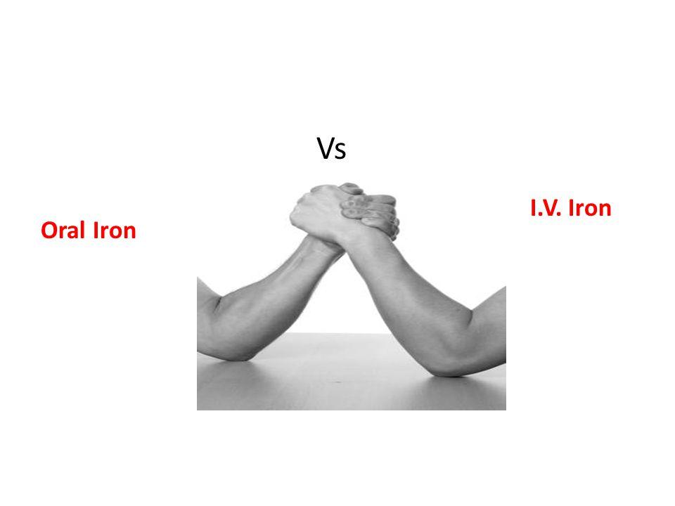 Oral Iron I.V. Iron Vs