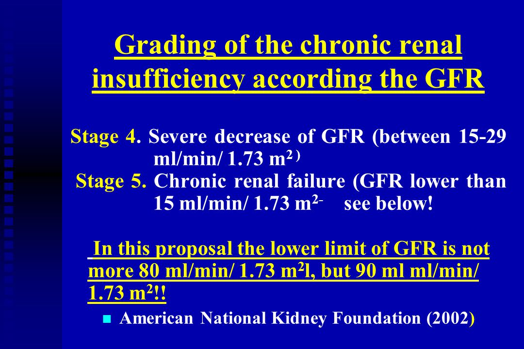"""Definition of chronic renal failure n n Chronic renal failure (CRF) is defined as End Stage Renal Disease (ESRD) requiring Renal Replacement Therapy (RRT) n n This situation may be also called as """"renal death ."""