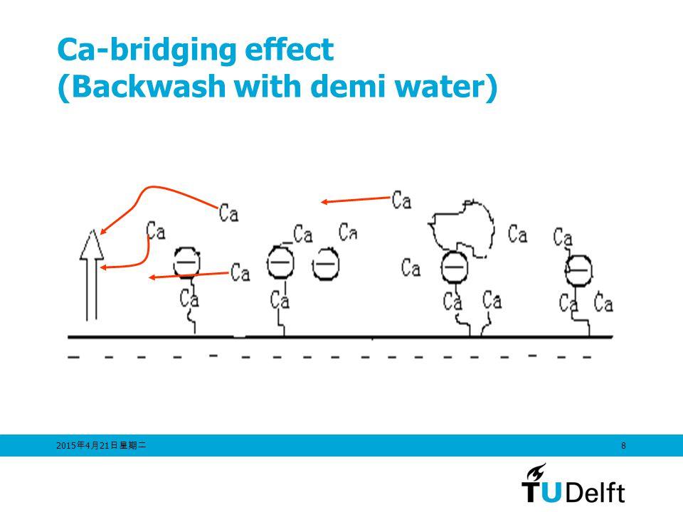 2015年4月21日星期二 2015年4月21日星期二 2015年4月21日星期二 8 Ca-bridging effect (Backwash with demi water)
