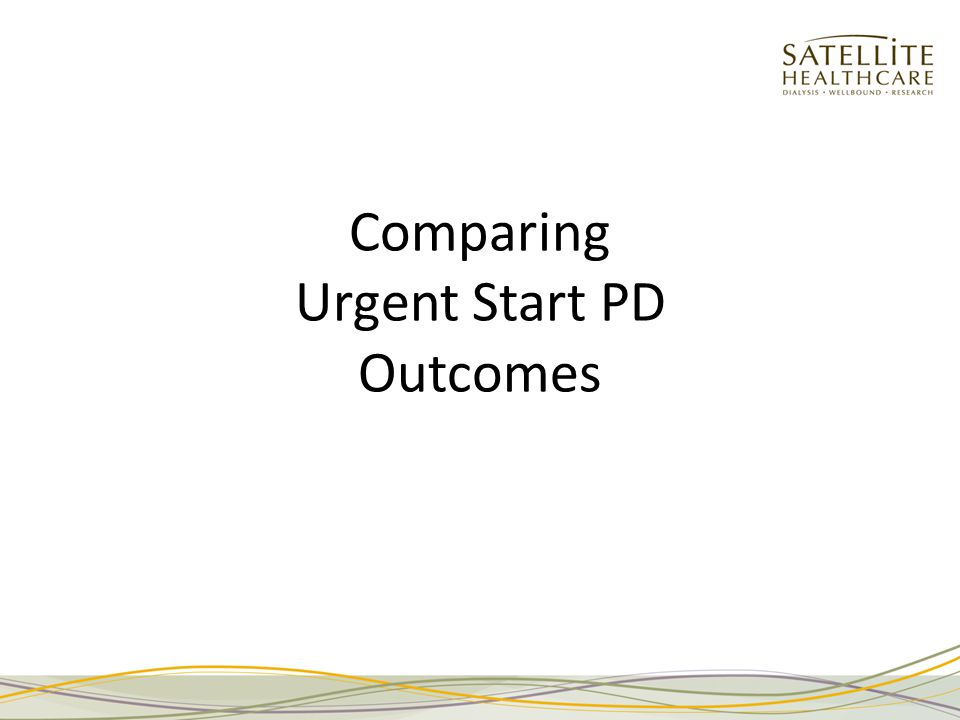 Comparing Urgent Start PD Outcomes