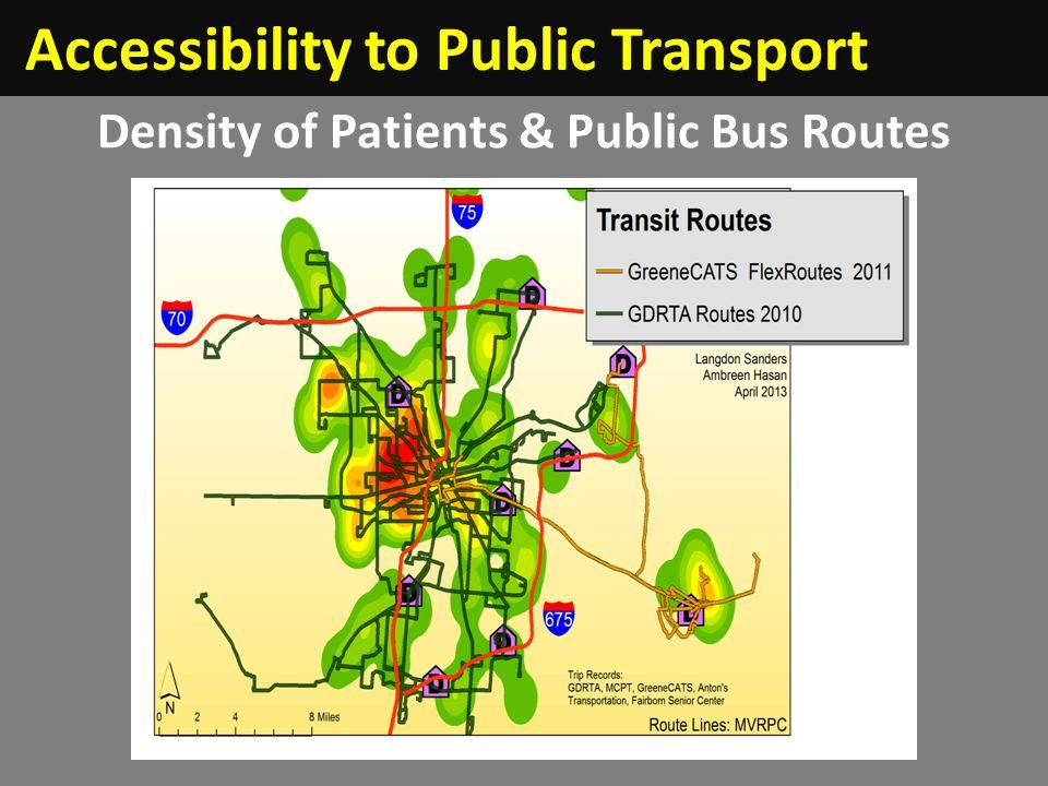 Density of Patients & Public Bus Routes Accessibility to Public Transport